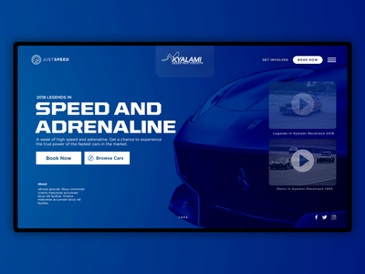Speed And Adrenaline web south africa ux concept ui