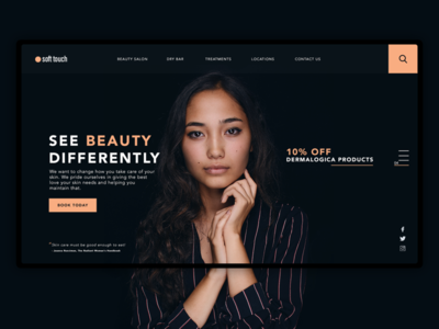 Beauty Shop Concept interactive south africa design web ux ui