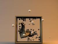 Cloth + Cube + Spheres