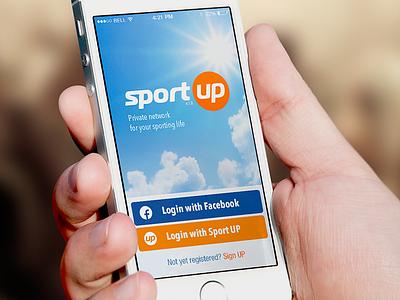SportUp iOS ios ui interface sport application login fitness coach athlete light blue