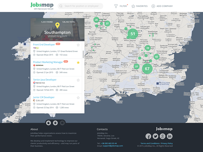 JobsMap job map search web design interface location