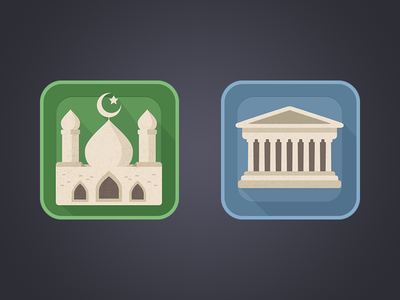 Book Genres Icons blue green android launcher app design parthenon history muslim icons