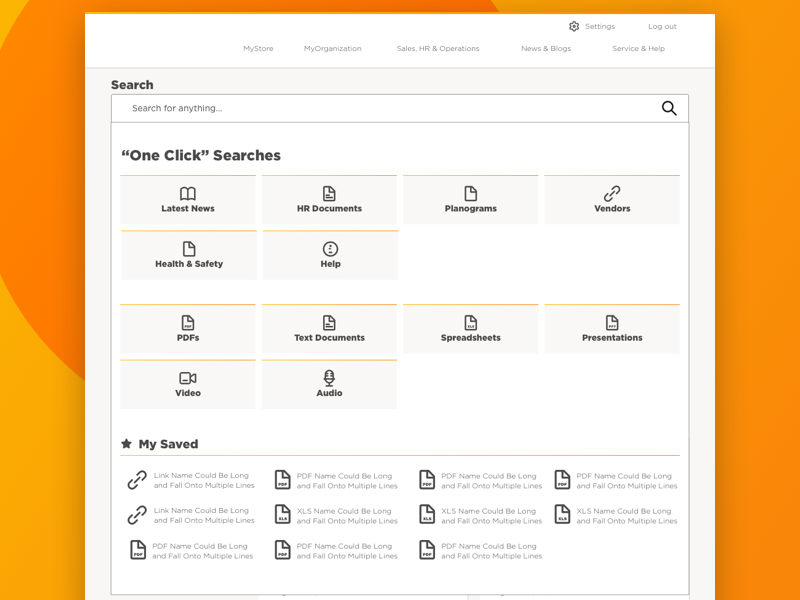 Intranet - Search document saved work corporate enterprise one-click user generated content search intranet