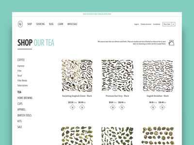 49th Parallel Coffee Roasters - Product Category 2 tea coffee category ux ui shopify ecommerce