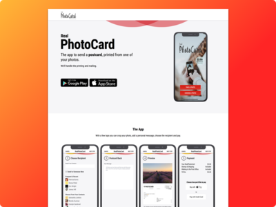 RealPhotoCard Website Homepage