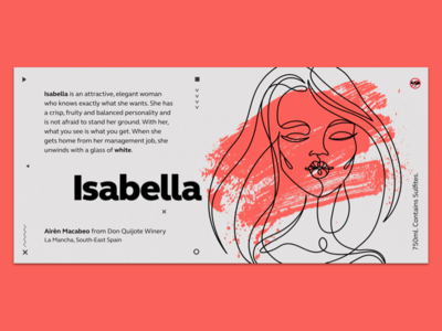 Wine Label - Isabella