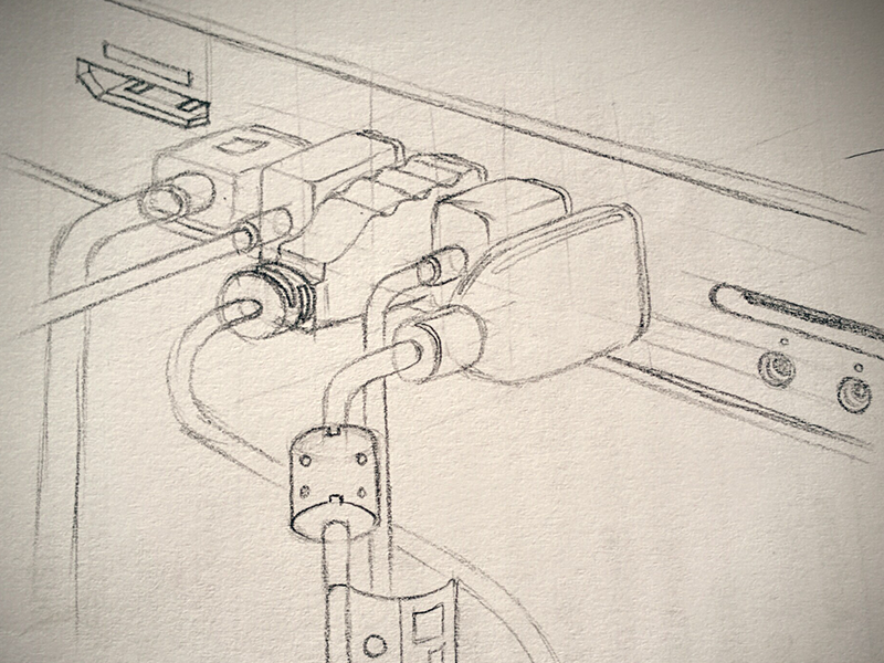 Cords From Mac Mini paper pencil sketch mini mac cords