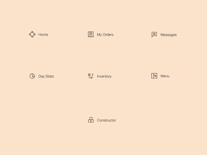 Point Of Sale App Menu Icons