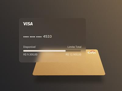 Credit Card Gold - Citi Bank ecommerce interface clean ui ux finances bank app mastercard visa payment app payment credit card checkout credit card