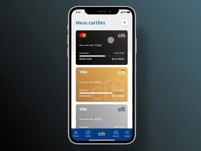 Citi Bank - Credit Card Interaction prototype interaction card credit cards citi bank balance finances ecommerce checkout billing payment bank app