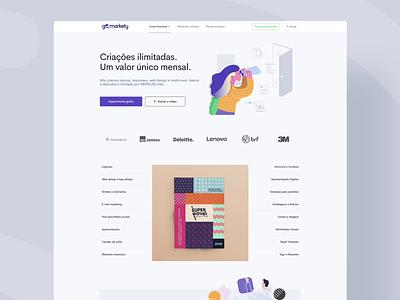 Gomarkety - Website layout marketing gomarkety user interfaces web design website vector logo illustration design animation clean branding ui ecommerce user interface