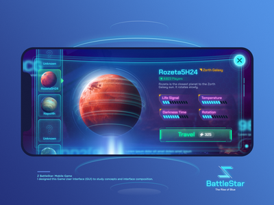Game user interface (GUI) - Z BattleStar user interface button game galaxy design space game interface for games gui game design