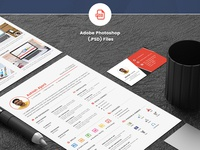 Download Free Resume Template PSD – Creative And Professional