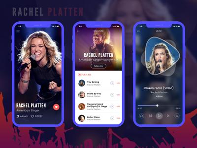 Rachel Platten - Music app design