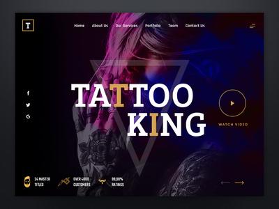 Tattoo King - Sketch Design