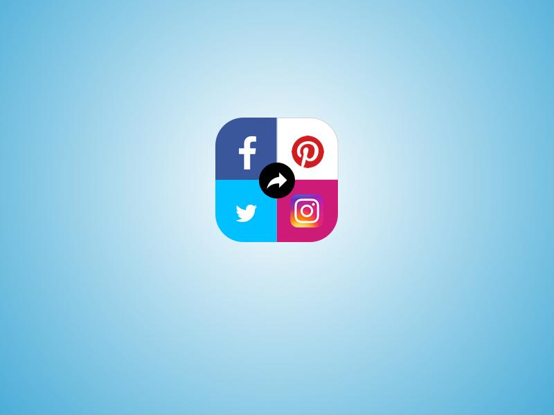 Social media share button