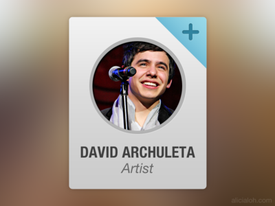 Profile Widget Rebound profile widget rebound light blue singer artist david archuleta
