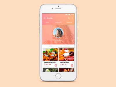 App Foodie Place food ux ui design app