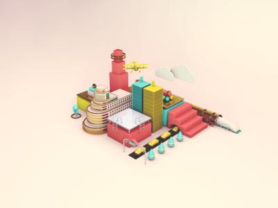Madrid 3D gran vía art director 3d metro madrid