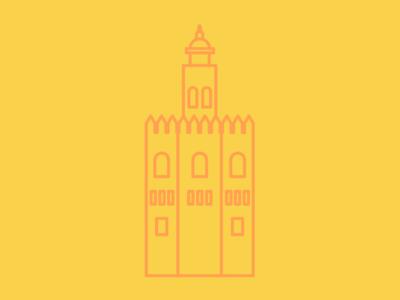 Sevilla torre del oro españa spain icono icon sevilla