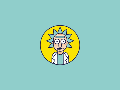 Rick (Rick and Morty) illustrator rick and morty icon
