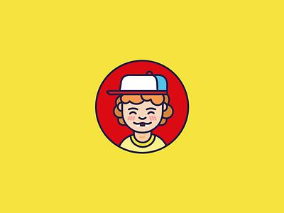 Dustin (Stranger Things) illustrator stranger things dustin icon