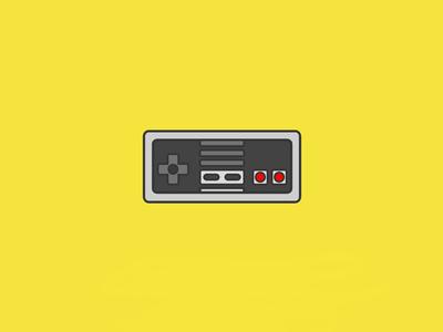 Nintendo NES illustrator vector icon nintendo nes