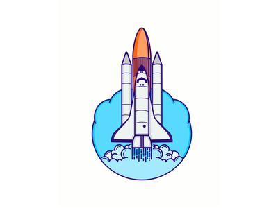 Atlantis Rocket rocket line icon nasa atlantis