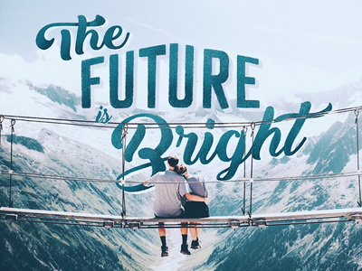 Lettering - THE FUTURE IS BRIGHT procreate lettering