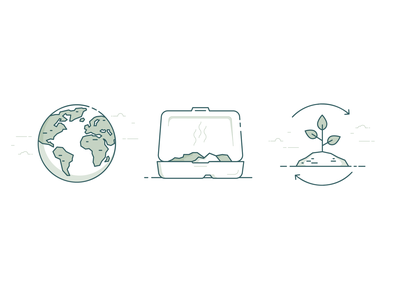 Hilda's Restaurant Illustrations recycling sustainability food earth green line vector illustration