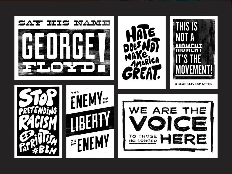 Black Lives Matter | Protest Posters blm art for good typography black and white protest signs protest poster black lives matter