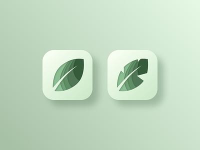 Daily UI 005: App Icon jungle layered minimalism clean calming mobile app leaf motif banana leaf leaf icon branding vector logo app icon ui design 005 daily ui 005 daily ui challenge daily ui