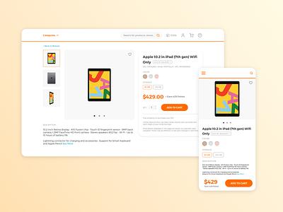 Daily UI 012: E-Commerce Shop shopping clean ux challenge figma dailyui ui daily design website web desktop mobile shop ecommerce