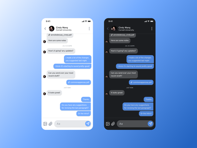 Daily UI 013: Direct Messaging ux simple figma design challenge messages message dailyui013 013 dailyui ui daily mobile app messaging direct