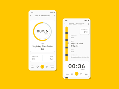 Dailly UI 014: Countdown Timer - Interval Workout simple dailyui concept fitness timers mobile figma 014 ui daily challenge app hiit workout countdown timer interval