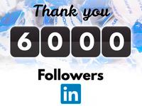 شكراً لـ6006 متابع على شبكة اللنكدان