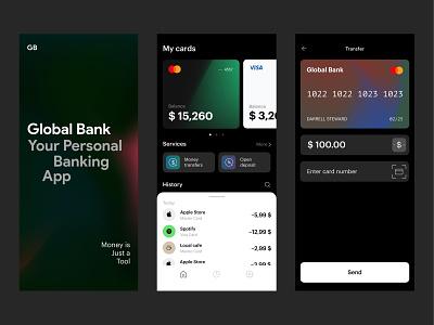 Mobile Banking App minimal app ux ui typography design