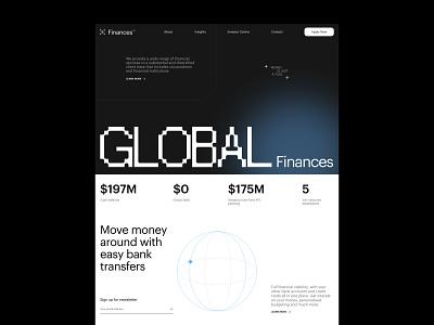 Global Finance Design Concept web minimal ui design