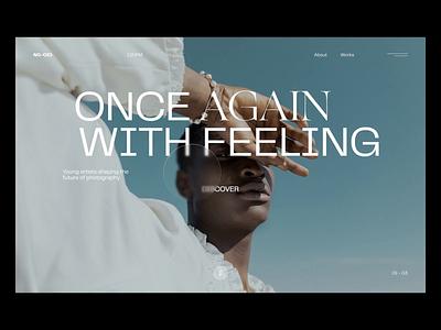 Animation exploration - transition minimal typography animation motion web ui design