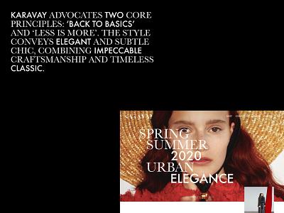 Karavay Women's Clothing Store ui web typography design