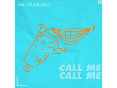 Call me smile vector art paper illustration