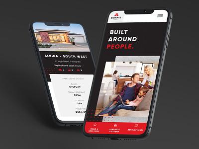 Mobile design for home builder responsive design ui design web design website design