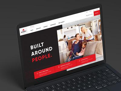 Homepage design for a home builder website design web design digital designer ui design