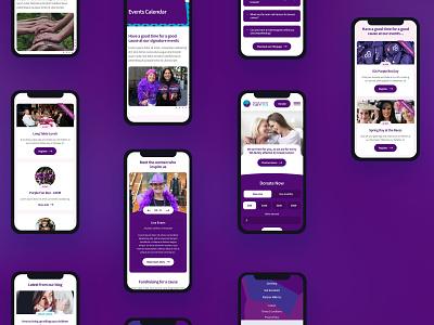Mobile design for a breast cancer not for profit web design digital designer ui design website design ui