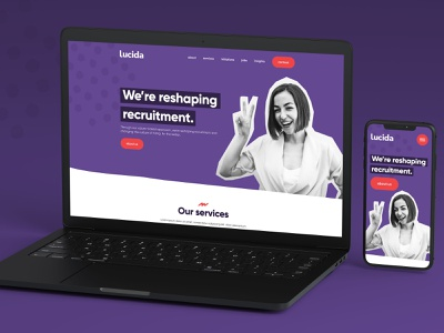 Recruitment UI Design ux design ui digital design ui design website design