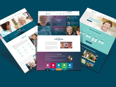 Website designs for Aged Care Providers website design web design digital designer ui digital design