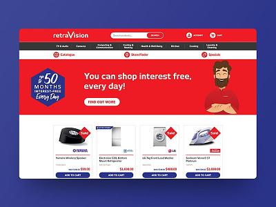 Website Design for Retravision website design web design digital designer ui digital design