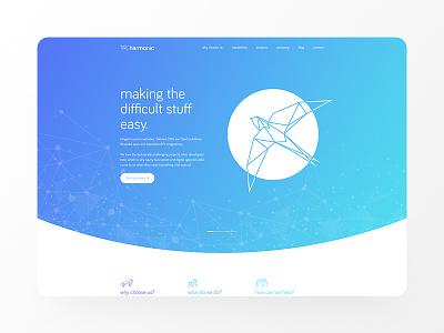 Sleek website design design ui web design website design
