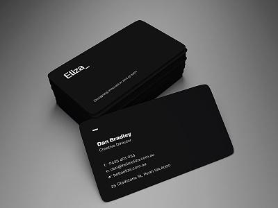 Eliza business card design design print design business card design