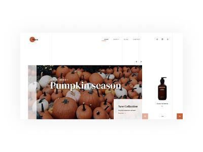 Māos - Beauty products // eCommerce ui design elegant beauty product pumkin shop ecommence homepage organic layout user interface web design ecommerce
